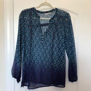 Casual studio split neck printed blouse
